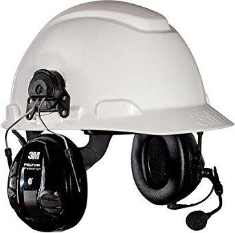 3M (MT16H21P3EWS5UM580) WS 100 Communications Headset MT16H21P3EWS5UM580, Hard Hat Attach