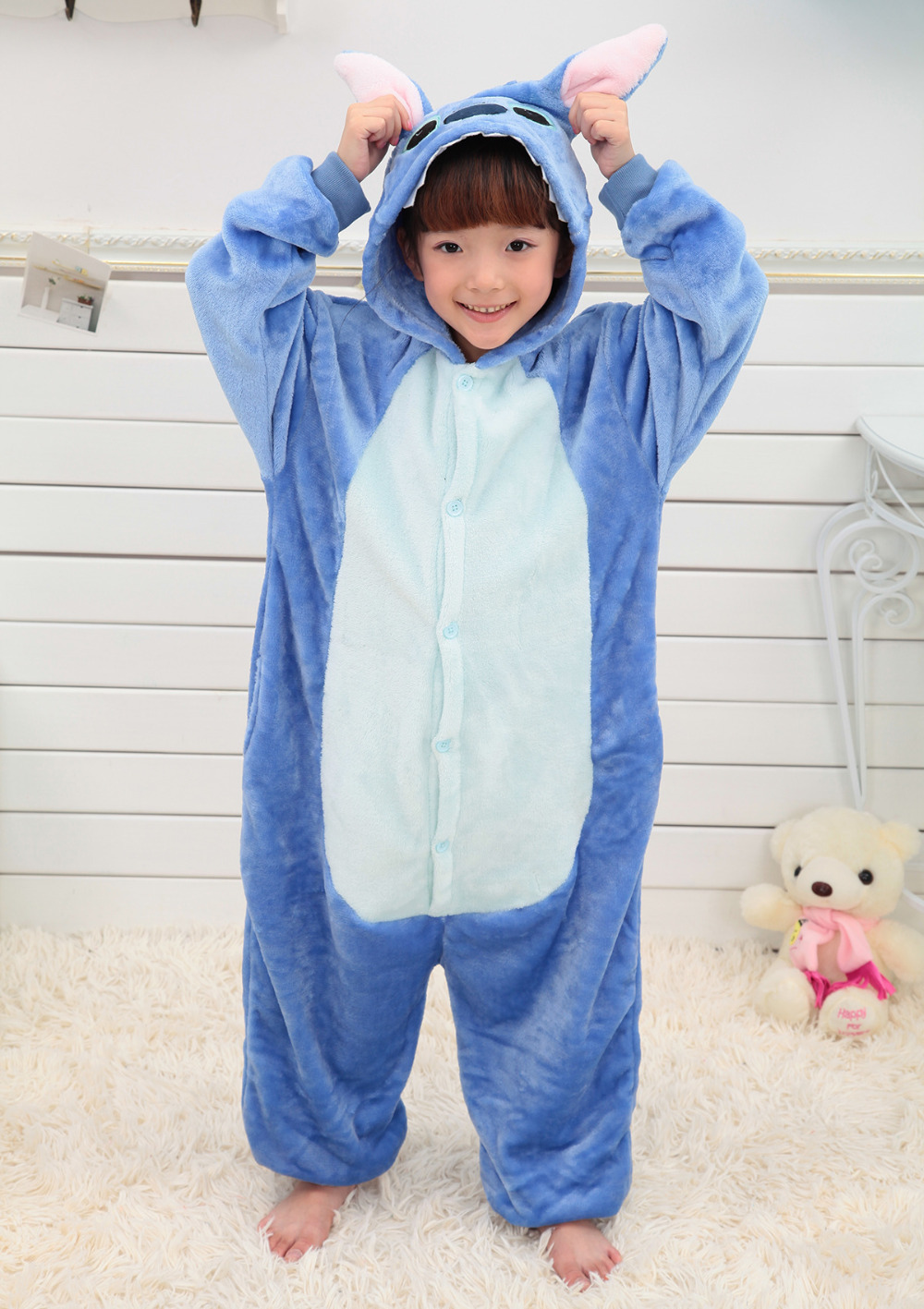 Kids Cute Blue Stitch cosplay costume Halloween Christmas ...