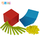 Plastic Base Ten Cubes Set, Advanced Mathematics Learning Play Set for Kids