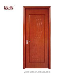 Safety Wooden Swing Door Qatar Solid Wood Door Design
