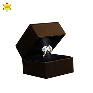 custom luxury cardboard packaging leather gift jewelry box