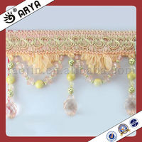 Pearl Beads Curtain Lace Trim Fringe Tassel,Used For Drapes ...