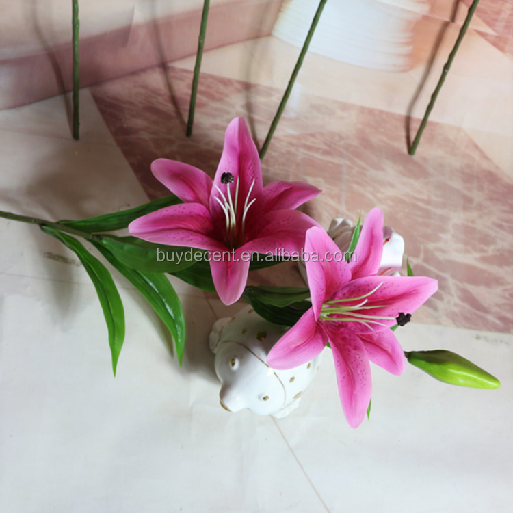 hot sell artifical Lily flower for wedding occasion best service supplier for plastic flower