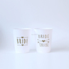White Bachelorette Party Plastic Wedding Bride and Bride Tribe Cups
