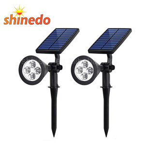 4pcs Super Bright LED Solar Landscape Spotlight for Security