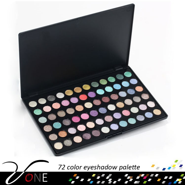 Trade Assurance Wet and Dry Mineral Eyeshadow Shiny 72 Colors Eye Shadow Palette Makeup Tool Kit