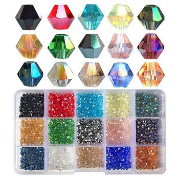 4mm Bicone Glass Beads for Jewelry Making
