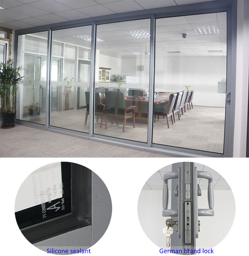 AS2047 Standard aluminium alloy energy saving double glass window aluminium bifolding windows door