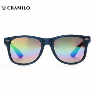 italian rainbow natural wood China factory sunglasses