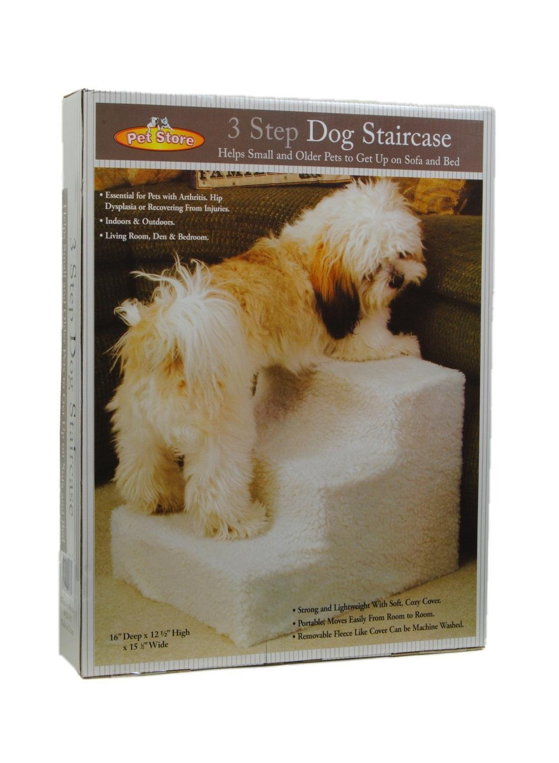 Get Quotations · Pet Stairs 3 Steps Stairs Small Dog Cat Steps Pet Ramp  Ladder Portable Travel Up To