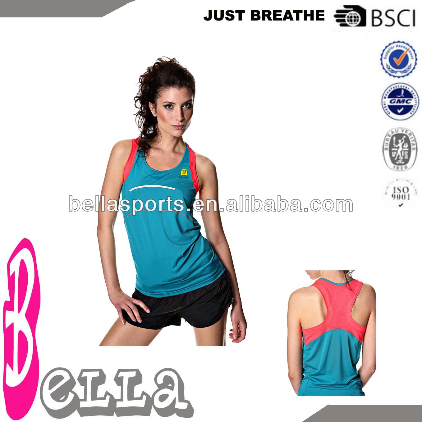 newest oem multi color running tank tops yoga tops with racerback and your own logo for women