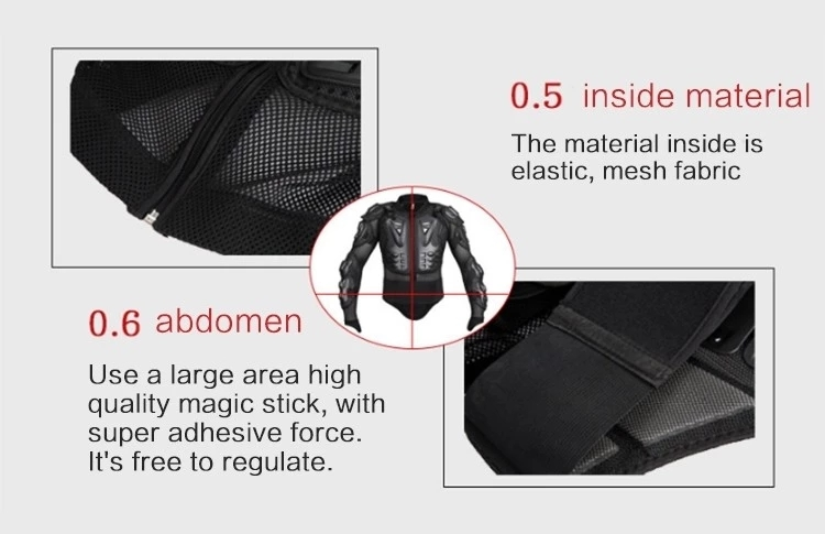 Motorcycle body armor protection jacket motocross racing protective gear