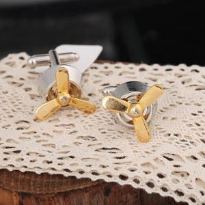 Fashion cufflink fan modelingcuff link can turn in particular cufflinks