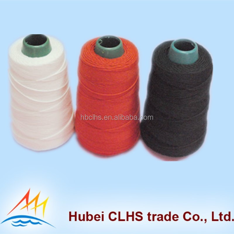 100% spun polyester raw sewing thread for fabric ,textile ,leather