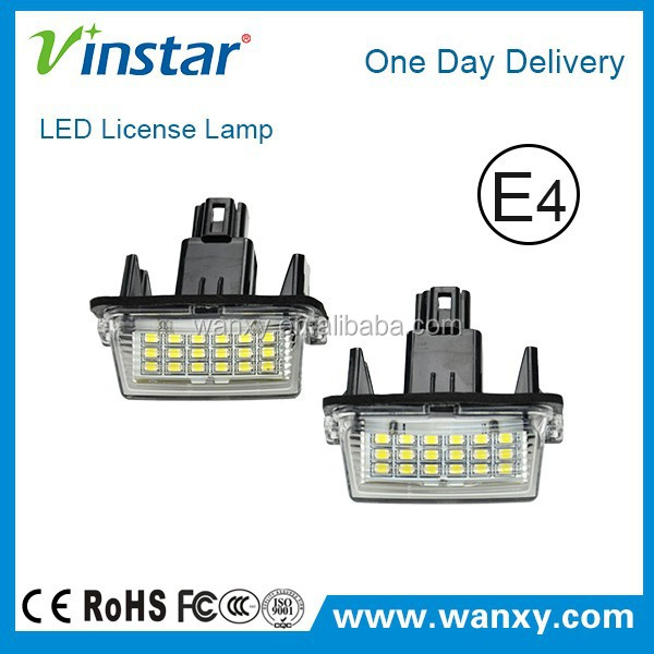 E4 approved led light camery/yaris led license late lamp for Toyota