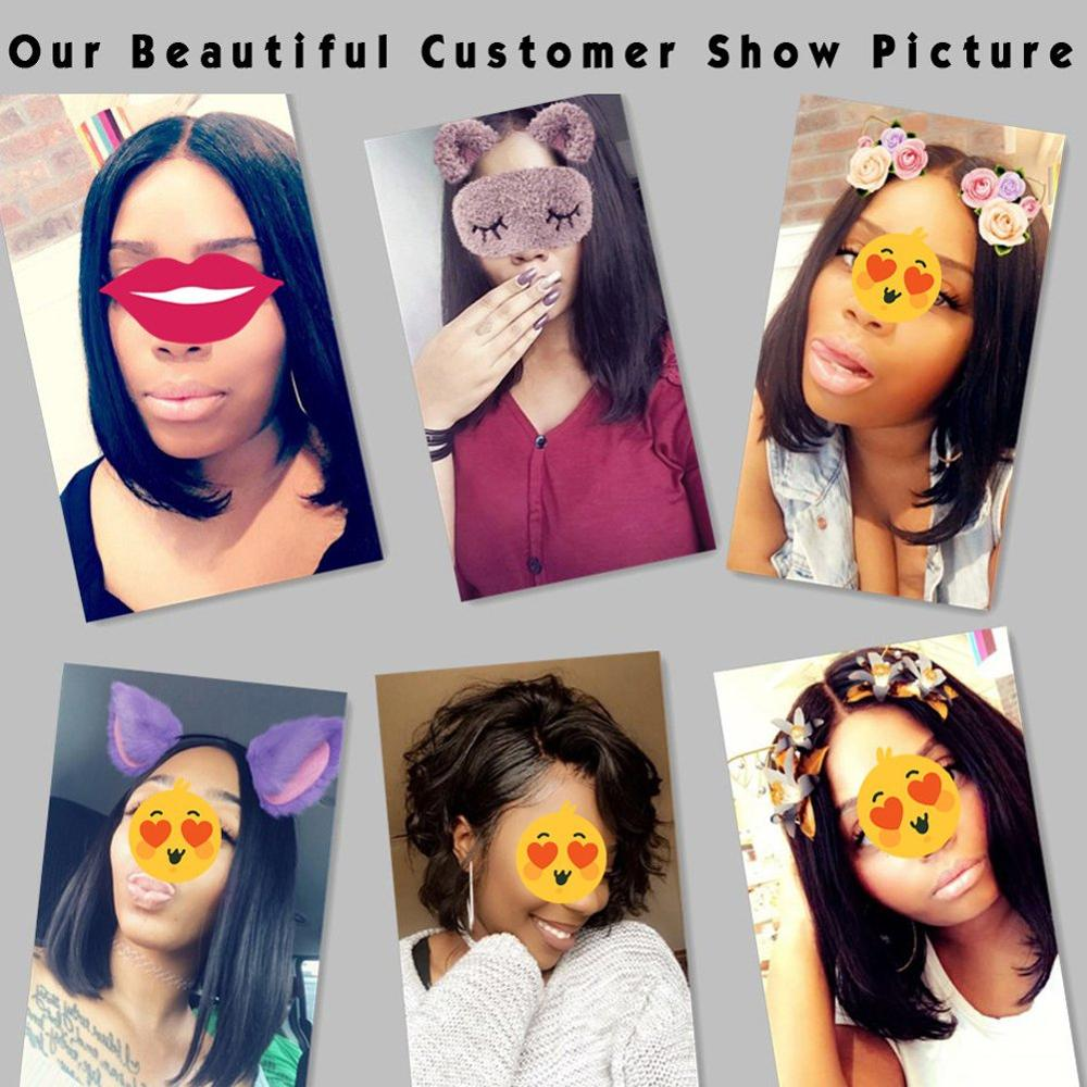 Super Natural 13x4 Lace Frontal Bob Wigs 100% Human Hair Wig With Baby Hair, Lace Front Human Hair Wigs 150% Density