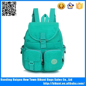 Smart top quality brand school bag Teens summer nylon bright color backpack