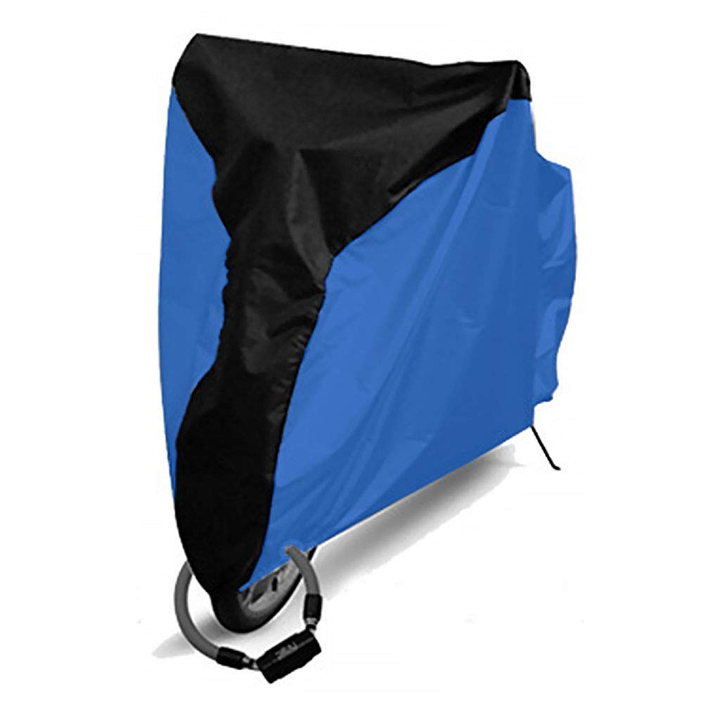 GETMORE7 Bike Cover, Bicycle Rain Cover Polyester Waterproof Anti Dust UV Protection Heavy Dustproof Cover for Mountain Bike, Road Bike(M,Middle Black+Dark Blue)