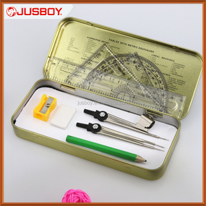 Chinese stationery products mathematical geometry math instruments sets for OEM