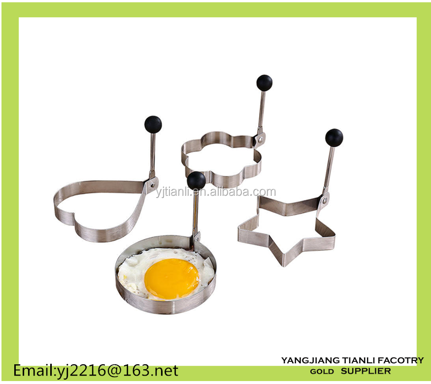 High quality different shapes egg rings stainless steel fried egg mould in egg tool
