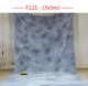 Photography Black + Blue Backdrop Background Photo Stand Muslin Kit.