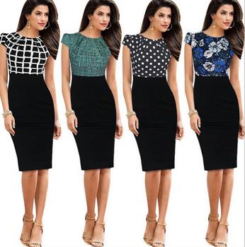 X86042a Latest Women Ladies Formal Dress Patterns Office Lady Pencil