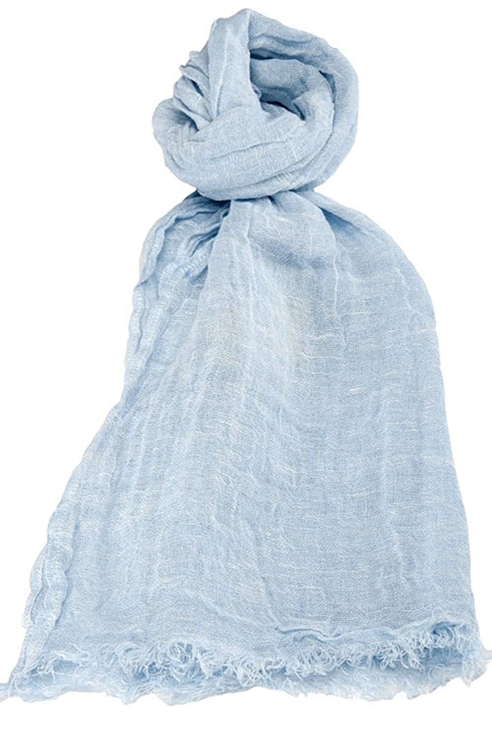 710b288da Get Quotations · Blue Scarf | 100% Linen Scarf | Scarves For Women | Mens  Scarf | Linen