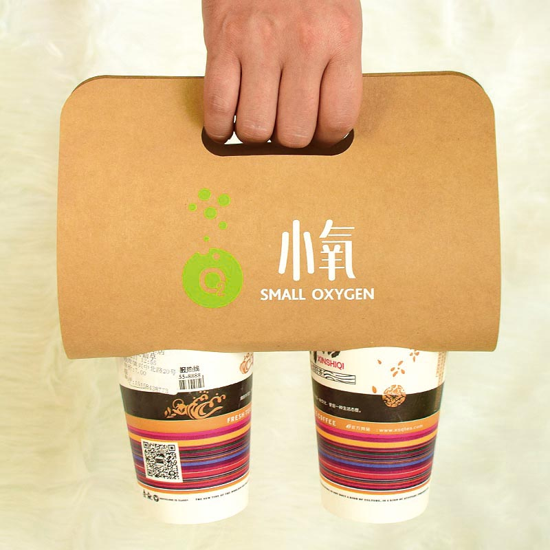China Supplier Folding Disposable Drink Paper Cup Holder Tray For Cup