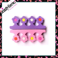 Cute flower shape sponge toe separator toe straighter