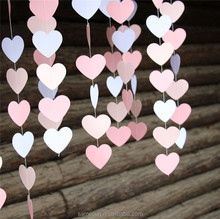 New Design Hanging Paper Heart Garlands for Wall Decoration