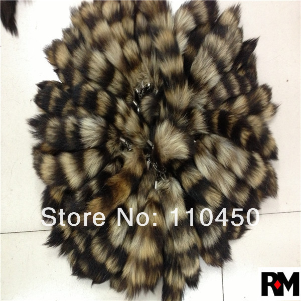 Factory wholesale 100% real Raccoon tails for key chain