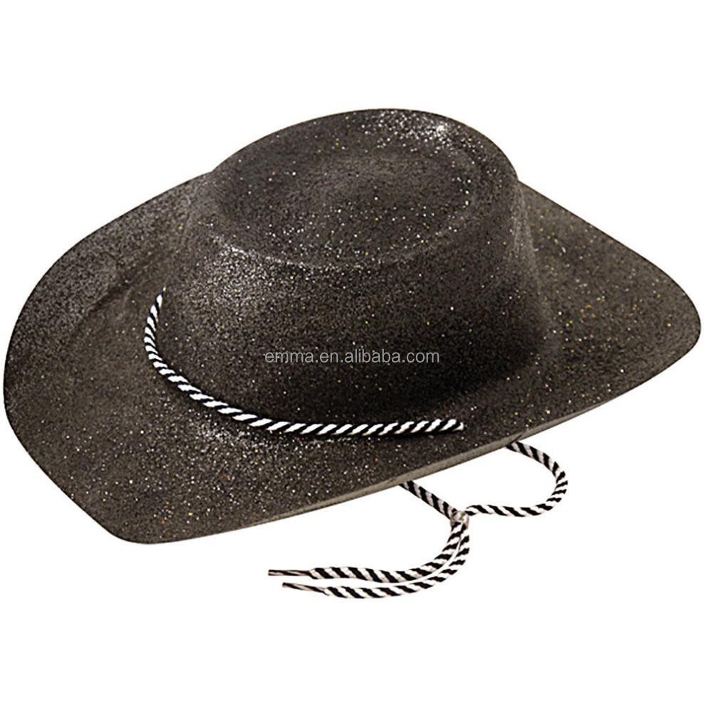 eab382f29f698 Wild West Hat Cowboy Glitter Fancy Dress Cowboys Western Accessory HT17479