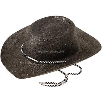 Wild West Cappello Da Cowboy Glitter Fancy Dress Cowboys Occidentale  Accessorio HT17479 eb56e9655cee