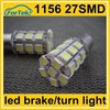 12v car lights led brake turn tail lamp 1156 27SMD 5050 strobe light