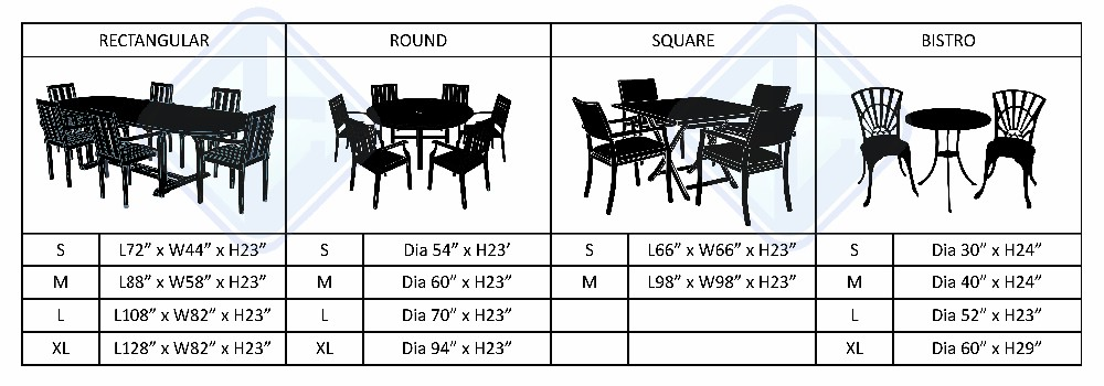 Outdoor Durable furniture cover dustproof oxford round patio Table and Chair set cover