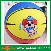 cheap custom design colorful size 1 natural rubber basketball