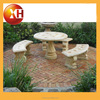 Garden natural marble top dining table sets for piano furniture