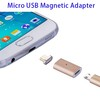 Quality Magnetic Adapter Charger Micro USB To USB for Samsung Android