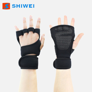 Custom Logo short finger Fitness Gym Gloves With Wrist Support