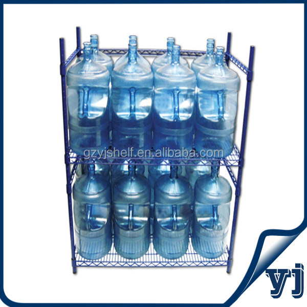 Customized Commercial Wire Mesh Chrome Rack 5 Gallon Water Bottle Storage From China Supplier