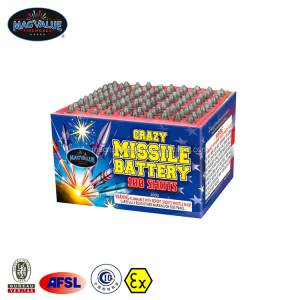 100 Shots Saturn Missile Battery Fireworks for Consumer Fireworks