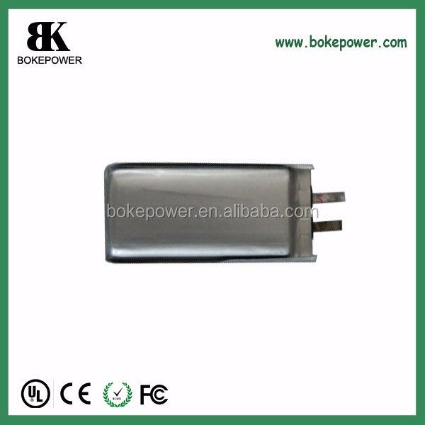 lipo battery 603460 1020mah 3.7V custom dimension for electric products battery