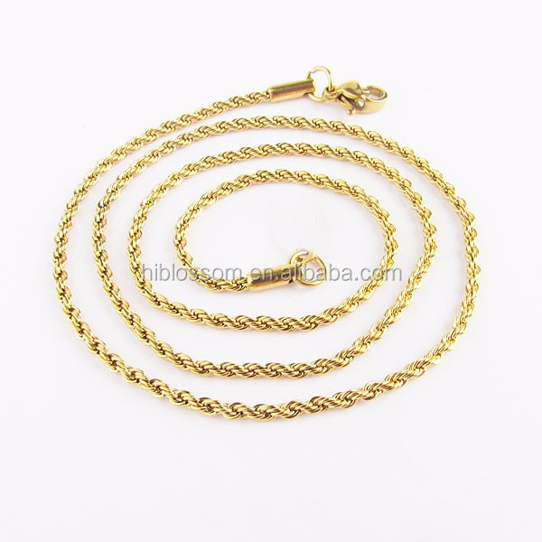 fashion new gold rope chain design for men chunky necklace custom
