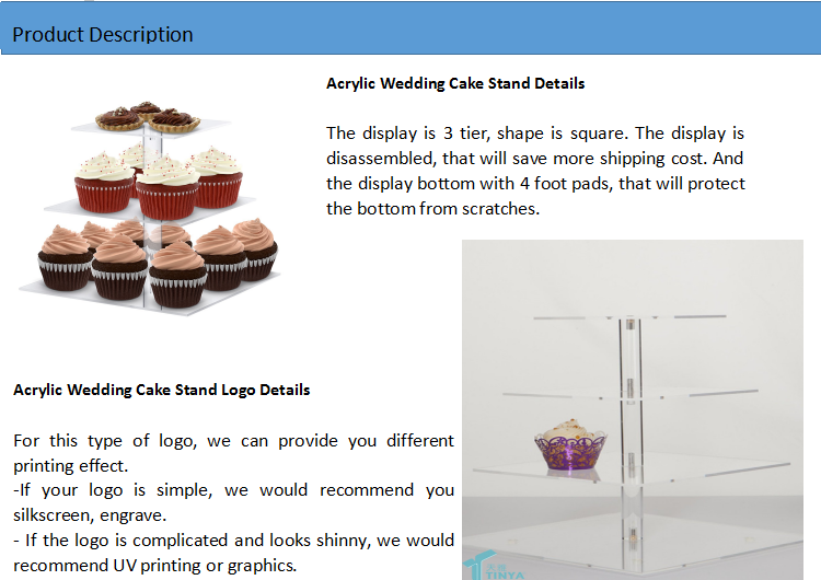 Custom Mini Cupcake Stand Displays,Acrylic Tiered Cupcake Cake Holder Stand,3 Tier Square Acrylic Wedding Cake Stand Wholesale