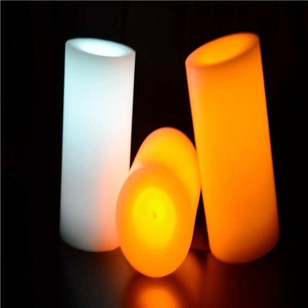 Eco-friendly smoke free color changing led candle for christmas