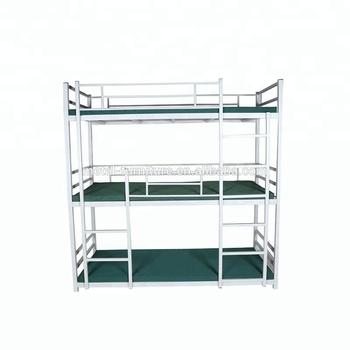 Latest Double Bed Designs Heavy Duty Steel Metal Bunk Bed Ladders