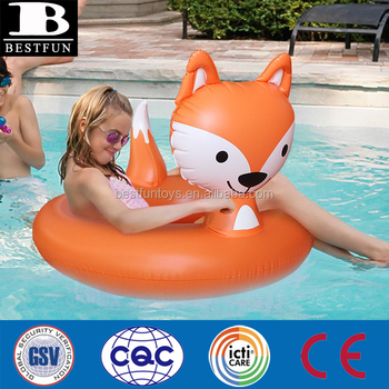 Superieur Custom Animal Shape Inflatable Fox Pool Float Swimming Tube Ring Summer  Toys And Gift For Adult
