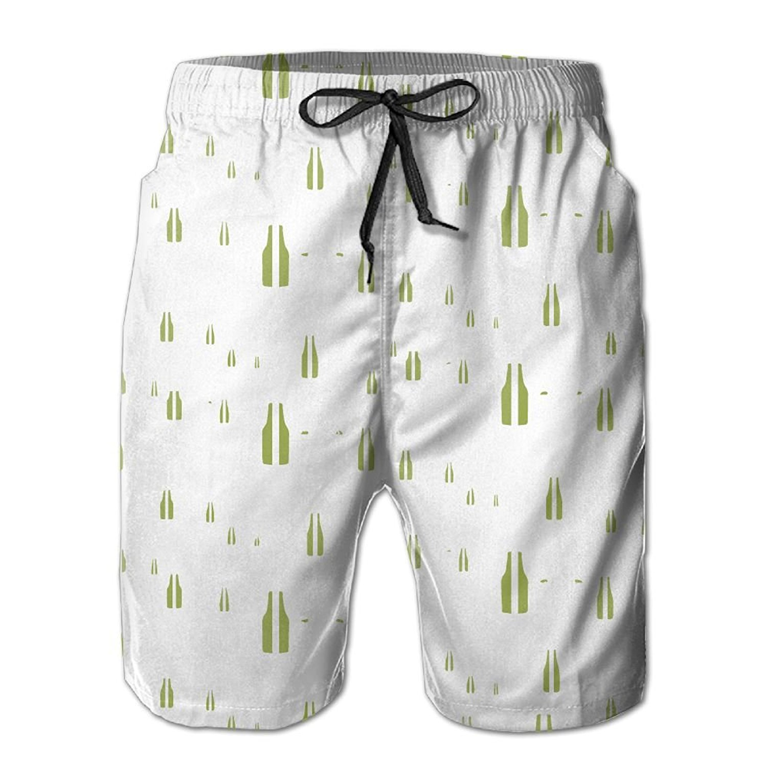 389f66ae2432f Get Quotations · Aini Ronyi Swim Trunk Beach Shorts Beer Bottles Men's  Volley Swim Trunks