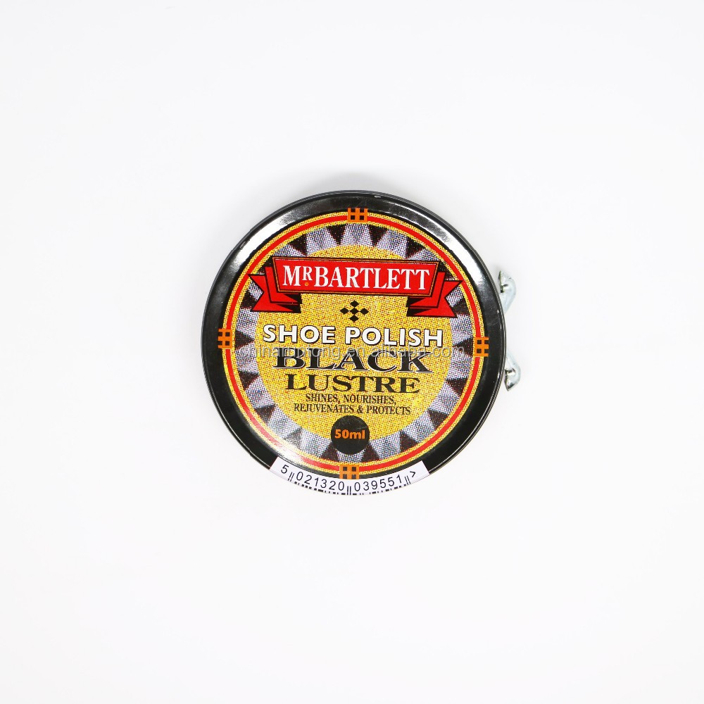 50ml black solid cream latest shoe polish can shoe protector