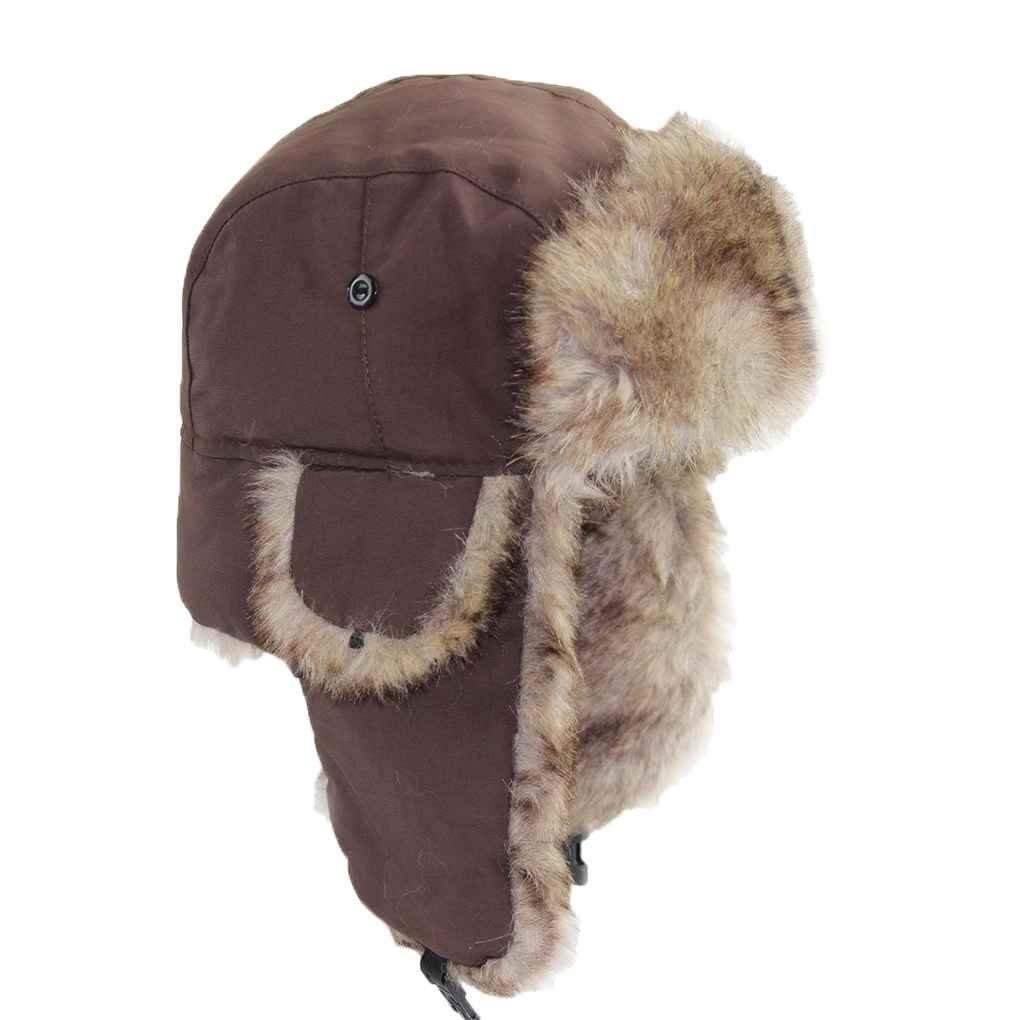 10c0781499fec Get Quotations · Bobury Men Women Bomber Hats Caps Girls Trapper Hat  Waterproof Wind Proof Earflap Hats Outdoor Sport